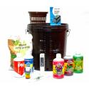 Комплект для выращивания HYDRO-START-SINGLE (гидропоника DWC 15л, питание, контроль pH), фото 1