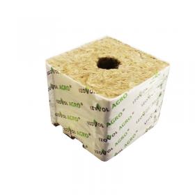 Кубик мин. ваты 75x75x65 мм, 1 отверстие 26x30, фото 1